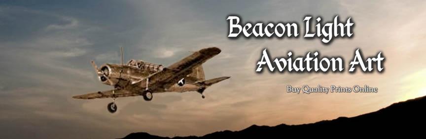 Beacon Light Aviation Art Banner